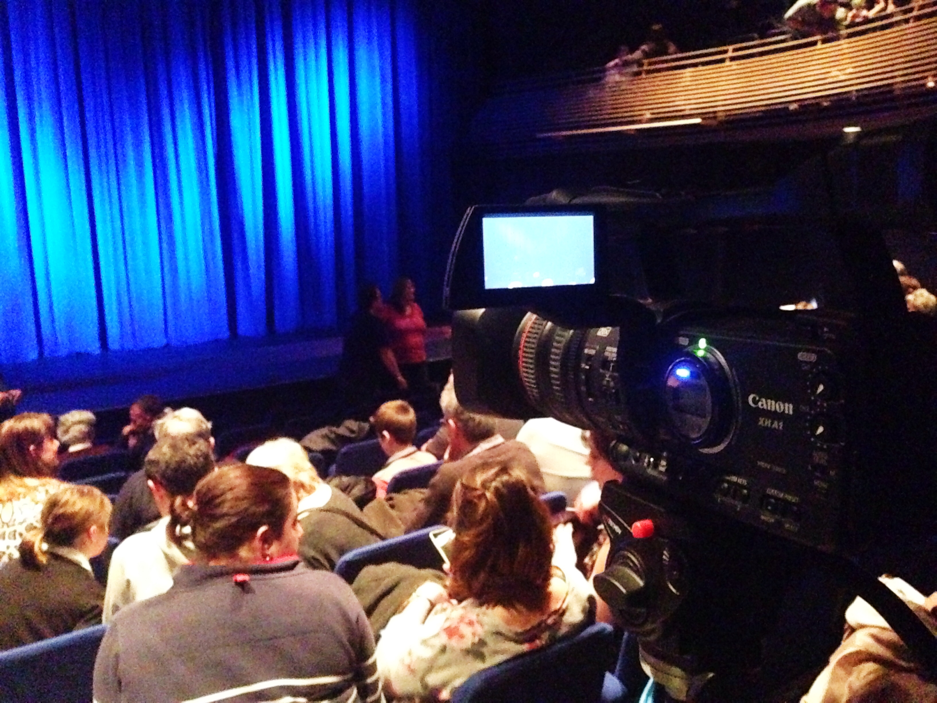 VBDance filming at Chequer Mead Theatre